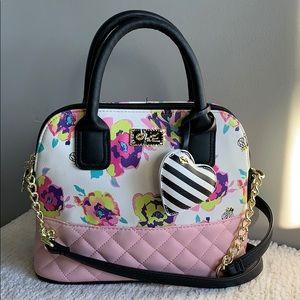 Betsy Johnson Floral Bee handbag Crossbody